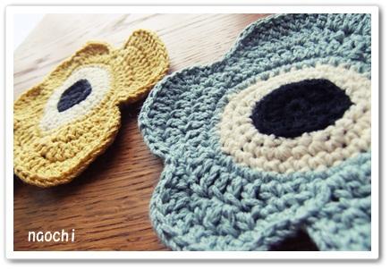 ウニッコ風の手編みコースター完成